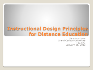 Instructional Design Principles