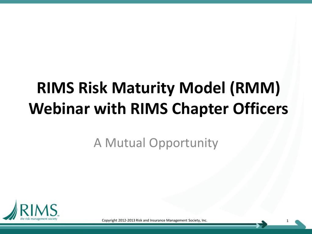 Rims Risk Maturity Model For Erm