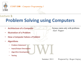 1. Problem Solving using Computers
