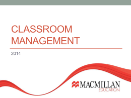 Classroom Management - Englishbook In Georgia