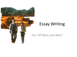 Essay Writing continued powerpoint