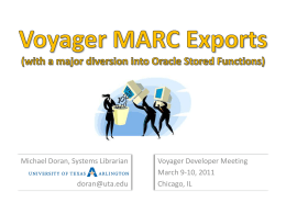 Voyager MARC Exports