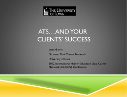 ATS... and Your Clients` Success (Joan Murrin, University of