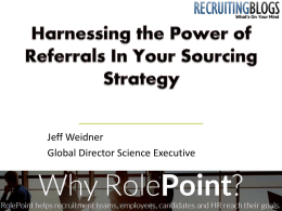 Harnessing the Power of Referrals In Your Sourcing Strategy