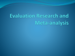 March 13—Evaluation research and meta