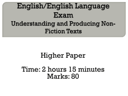 Interactive English Exam H