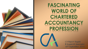 Fascinating World of Chartered Accountancy Profession