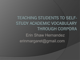 Teaching Students To Self-Study Academic Vocabulary