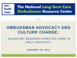 PPT - National Long-Term Care Ombudsman Resource Center.