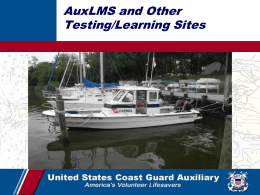 AUXLMS and on-line training