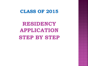 Residency Application Step by Step