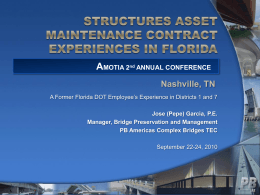 structures asset maintenance experiences in florida