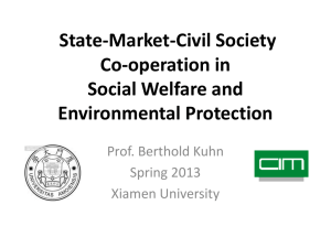 State-Market-Civil Society Co-operation in Social