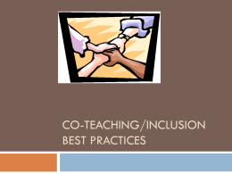 Co-teaching1 - Inclusion-strategies101 - home