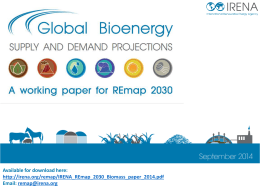 Bioenergy working paper slidedeck