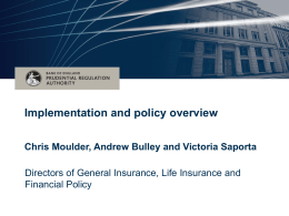 Implementation and policy overview