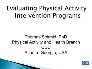 Evaluating Physical Activity Intervention Programs. Thomas