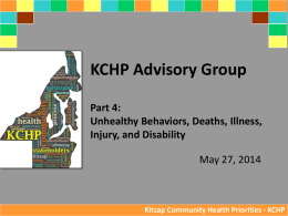 Presentation - Kitsap Community Health Priorities