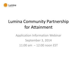Lumina Community Partnership for Attainment