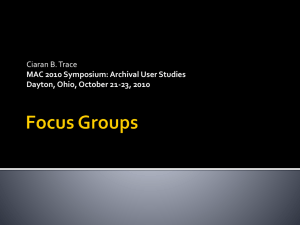 Focus Groups - Midwest Archives Conference