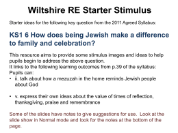 How does being Jewish make a difference to family and celebration?