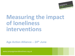 Measuring the impact of loneliness interventions