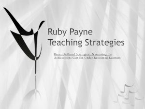 Ruby Payne Teaching Strategies
