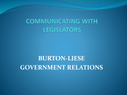 Communicating with Legislators (download as powerpoint)