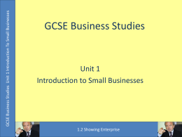 GCSE Business Studies