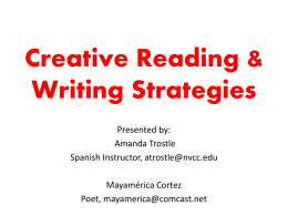 Amanda Trostle - Creative Reading Strategies (PPT)