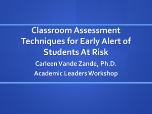 EarlyAlertAssessment