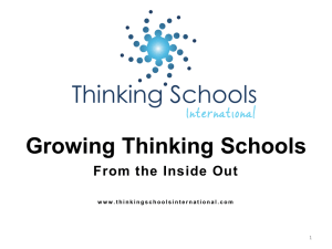 Presentation - Thinking Schools International