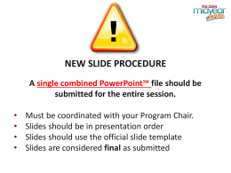 Presenter Slide Template