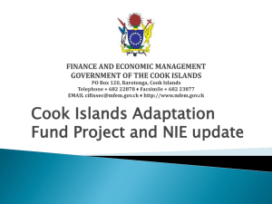Cook Islands - Adaptation Fund