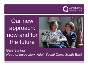 Gale Stirling - Care Quality Commission