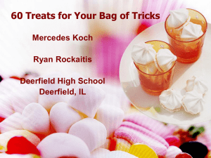 60 Treats for Your Bag of Tricks