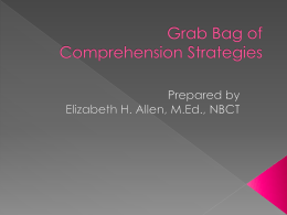 Grab Bag of Comprehension Strategies
