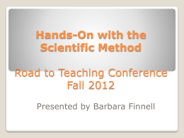 Barbara Finnell - Scientific Method 2012