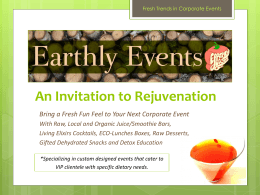 for Green Corporate Events…
