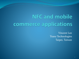 NFC and mobile commerce applications