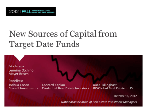 New Sources of Capital from Target Date Funds