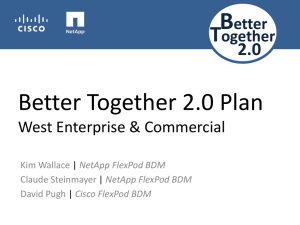 Better Together 2.0 Plan West Enterprise & Commercial
