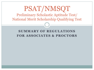 PSAT Proctoring - Road Map Region Race to the Top