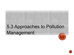 5.3 Approaches to Pollution Management
