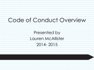 Code of Conduct Overview - Florida Key Club Florida Key Club