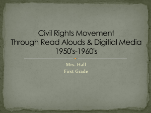 Civil Rights Movement 1950`s