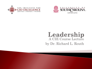 Leadership - The Institute for CIO Excellence