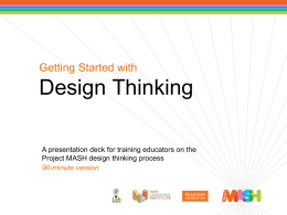 Getting Started with Design Thinking (PPT)