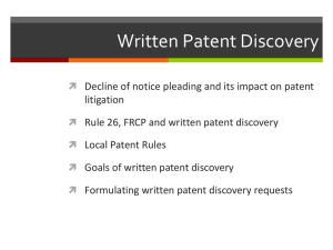 Patent Litigation Fundamentals