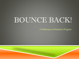 Bounce Back Information - Connells Point Public School